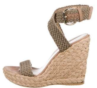 Stuart Weitzman Knit Wedge Sandals