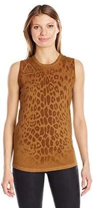 Freecity Women's Leopard Golden Line Slvss T-Shirt