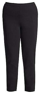 Joan Vass Women's Plus Medium Ponte Slim-Fit Leggings