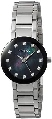 Bulova Women's Quartz Stainless Steel Casual Watch, Color:Silver-Toned (Model: 96P172) $299 thestylecure.com
