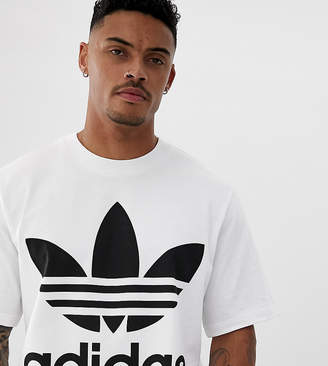 adidas oversized trefoil t-shirt in white
