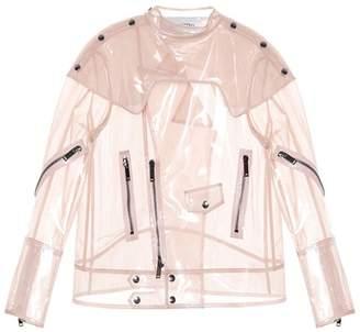 Valentino Vinyl and silk-chiffon jacket