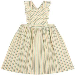 Bonton Nantes Striped Pinafore Dress