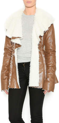 Double Zero Brown Fur Jacket