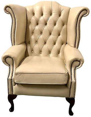 One Kings Lane Vintage English Leather Wing Chair - Von Meyer Ltd.