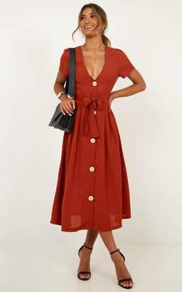 Showpo Research breakthrough Dress in rust