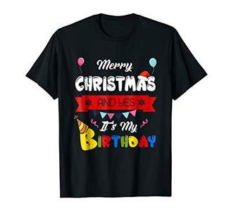 Awesome Merry Christmas And Yes It's My Birthday shirt