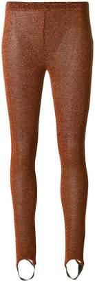 A.F.Vandevorst glitter effect leggings with foot strap