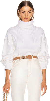 Helmut Lang Turtleneck Sweater in Ecru | FWRD
