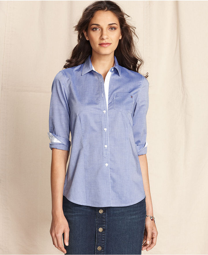 Tommy Hilfiger Shirt, Long-Sleeve Button-Down