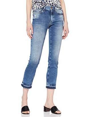 True Religion Women's Halle Superstretch Blue Denim Skinny Jeans, 4646, W27/L32 (Size: 27)