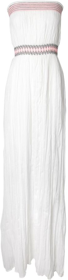 Jane Norman Contrast stitch sheered maxi dress