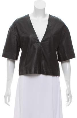 Dion Lee Leather Short Sleeve Top