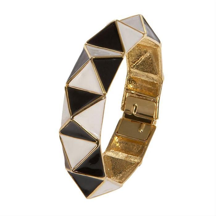 Pyramid Harlequin Bangle by Kenneth Jay Lane