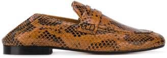 Isabel Marant Fezzy snakeskin-print loafers