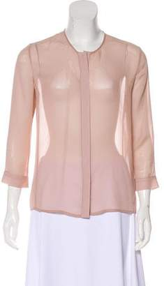 J Brand Sheer Button-Up Top