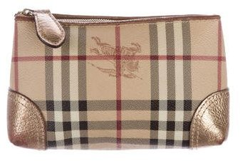 Burberry  Burberry Haymarket Check Cosmetic Bag