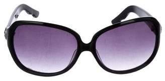 Oscar de la Renta Round Gradient Sunglasses