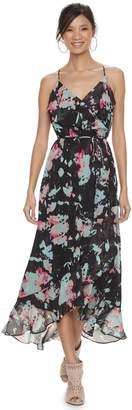 JLO by Jennifer Lopez Women's Ruffle Chiffon Faux-Wrap Dress