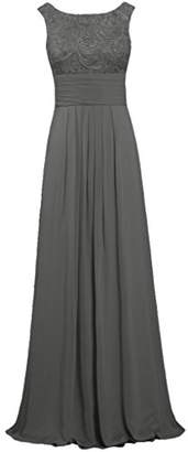 ANTS Women's Tank Lace Chiffon Prom Dresses Long Evening Gown Size US