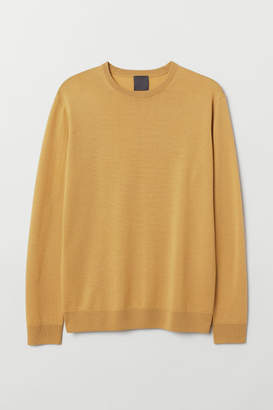 3fd545ef104cf9 Mens Yellow Wool Jumper - ShopStyle UK