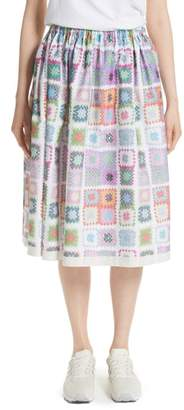 Comme des Garcons Crochet Print Skirt