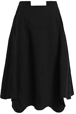 Comme des Garcons Women's Full Scalloped Wool Skirt