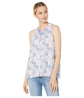 Vince Camuto Sleeveless Charming Floral Chiffon Blouse
