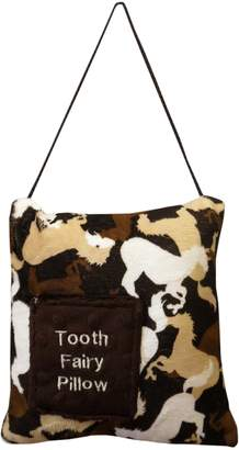 Caught Ya Lookin' Tooth Fairy Pillow, Brown Horses, White