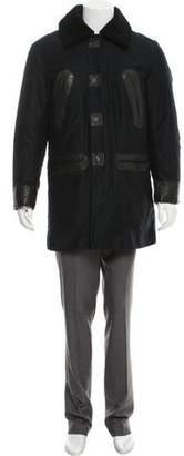 Marc Jacobs Faux Shearling Collar Car Coat