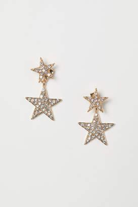 H&M Star-shaped Earrings - Gold