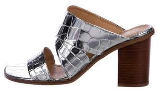 Carvela Embossed Metallic Sandals