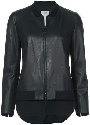 Akris Punto leather bomber jacket