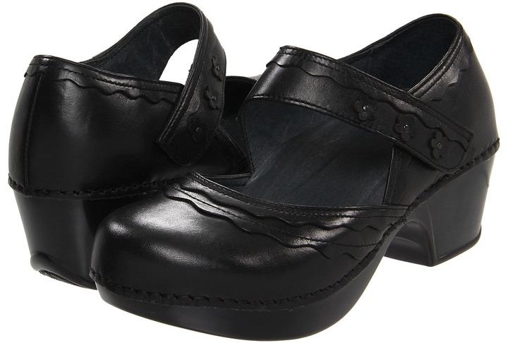Dansko Harlow (Black Burnished Full Grain) - Footwear