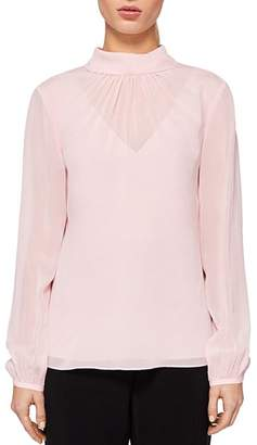 Ted Baker Temia High Neck Silk Blouse