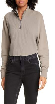 Cotton Citizen Beijing Half Zip Crop Pullover