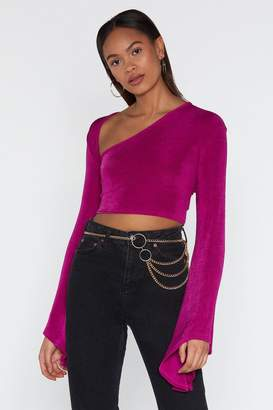 Nasty Gal Love and V Hold Bell Sleeve Crop Top