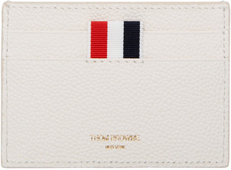 Thom Browne Off-White Diagonal Stripe Single Card Holder $370 thestylecure.com