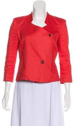 Helmut Lang Linen-Blend Asymmetrical Jacket