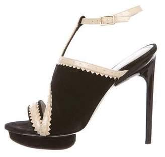 Jason Wu Suede Platform Sandals