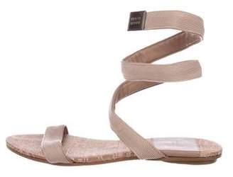 Herve Leger Canvas Wrap Sandals