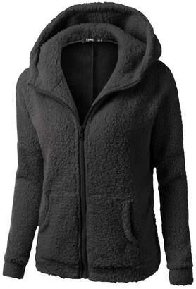 Teresamoon Clearance Sale ! Hooded Sweater, Women Cotton Coat Winter Zipper Outwear (XXXL, )