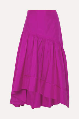 3.1 Phillip Lim Shirred Silk-taffeta Skirt - Fuchsia