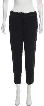 Helmut Lang Leather-Trimmed High-Rise Joggers