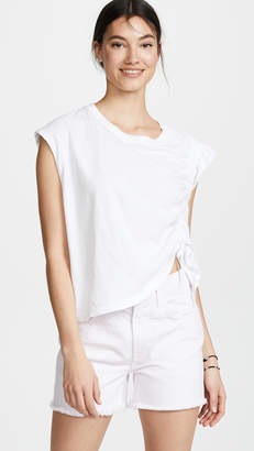 Current/Elliott Ruched Muscle Tee