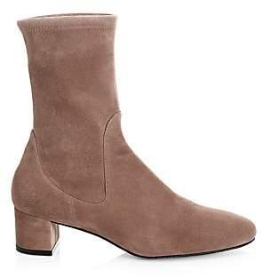 Stuart Weitzman Women's Ernestine Suede Sock Boots