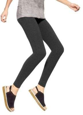 Hue Ankle-Length Stretch Cotton Leggings