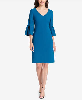 Jessica Howard V-Neck Bell-Sleeve Dress