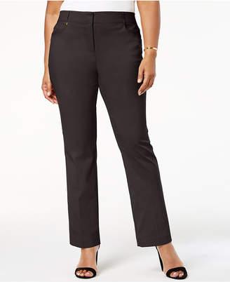 JM Collection Plus & Petite Plus Size Curvy-Fit Slim-Leg Pants