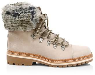 Sam Edelman Bowen Bistro Suede and Faux Fur Hiking Boots